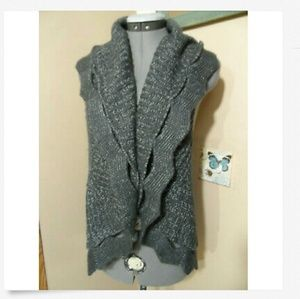 ADORE Cocoon Sweater Vest M Gray wool blend Hot!